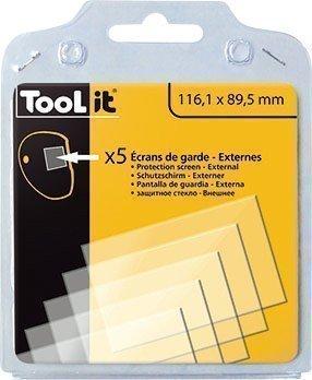 5 Écrans de garde -  Extérieur 116,1 x 89,5 mm  pour masque LCD MASTER 9-13G