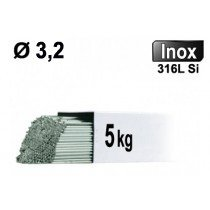 Baguettes métal d'apport TIG - INOX 316L - Ø 3,2 - Etui de 5kg