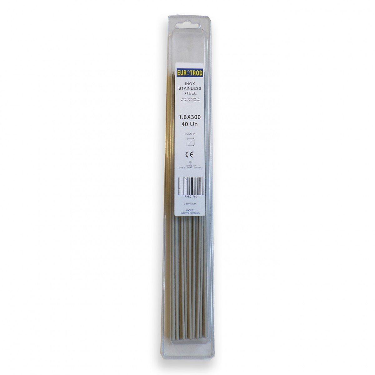 Blister de 40 électrodes INOX 316 1.6mm - EUROTROD