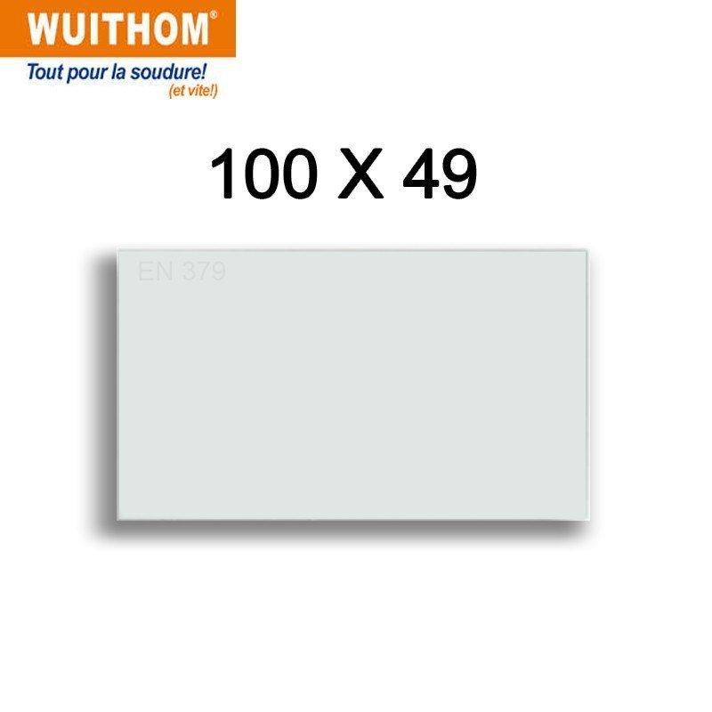 10 Écrans de garde -  Intérieur 100 x 49 mm  pour masque POWERSAFE PS5490 -  FLEXMATE 490 - PROFLEX QUATRO