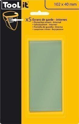 5 Écrans de garde -  Intérieur 102 x 40 mm  pour masque TECHNO 11