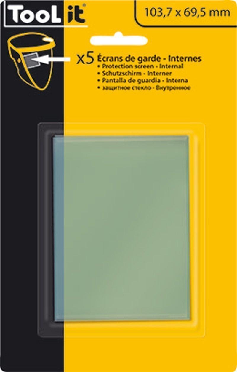 5 Écrans de garde -  Intérieur 103,7 x 69,5 mm  pour masque ZEUS 5-9 / 9-13