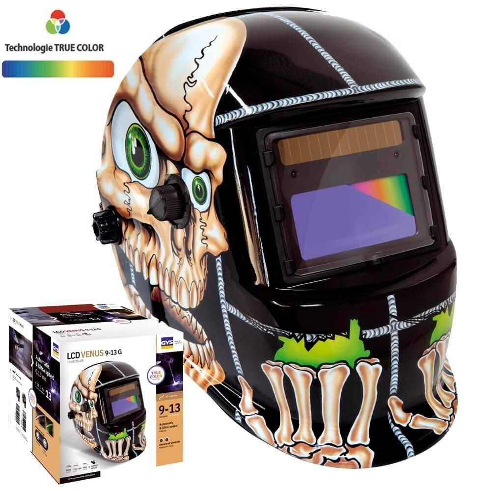 Masque de soudeur VENUS LCD 9-13G BONES TRUE COLOR - GYS