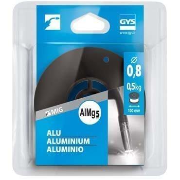 Bobine de fil plein  D 100 mm - ALU (AlMg5) - D 0,8 - 0,5kg