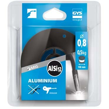 Bobine de fil plein  D 100 mm - ALU (AlSi12) - D 0,8 - 0,5kg