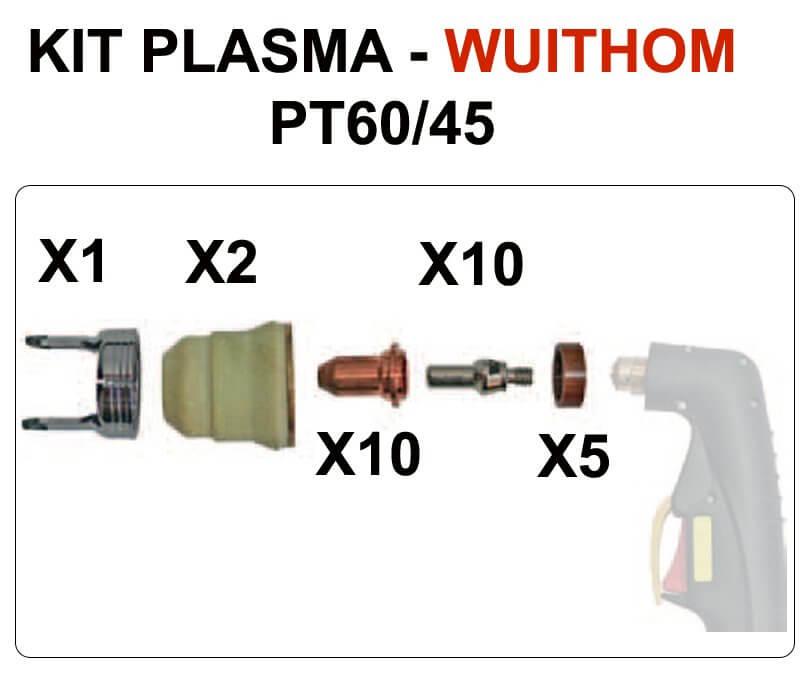 Consommables plasma pour PLASMACUT 45  - WUITHOM