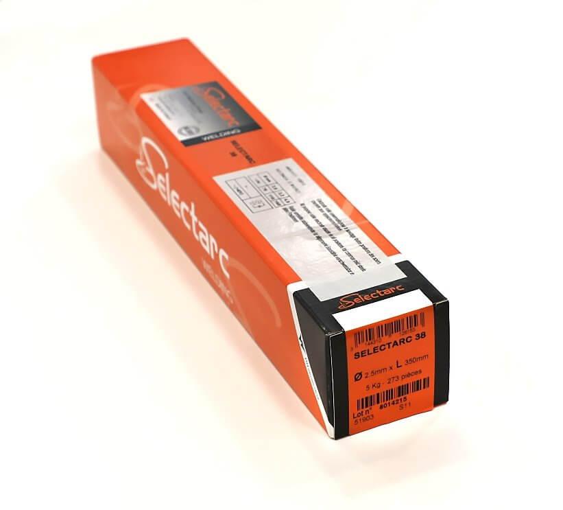 Electrodes ACIER rutiles - D2,5 - ( 273 pièces )