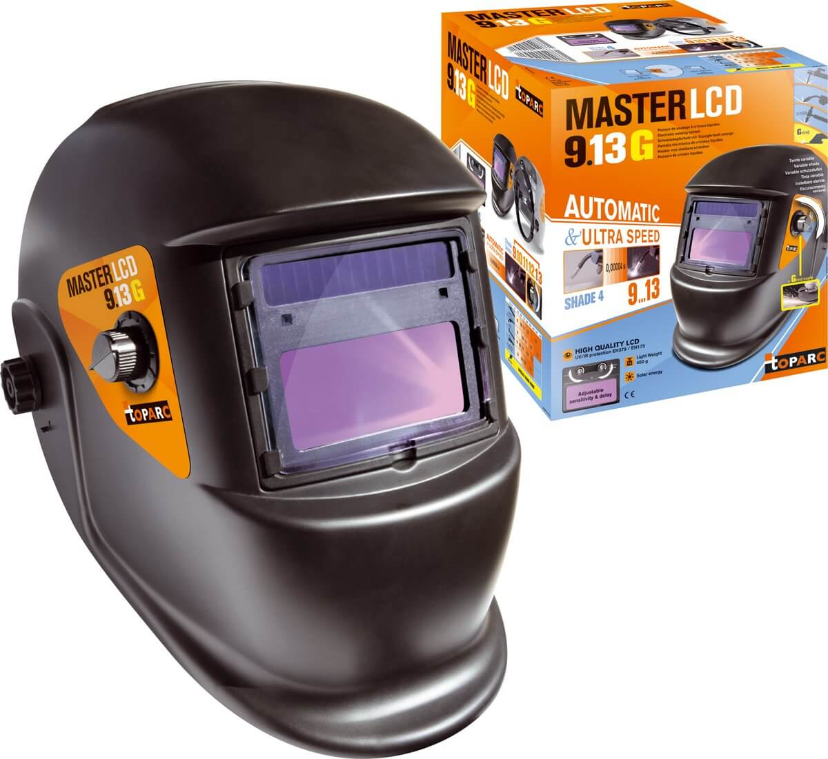 Masque de soudeur MASTER LCD 9-13G - TOPARC