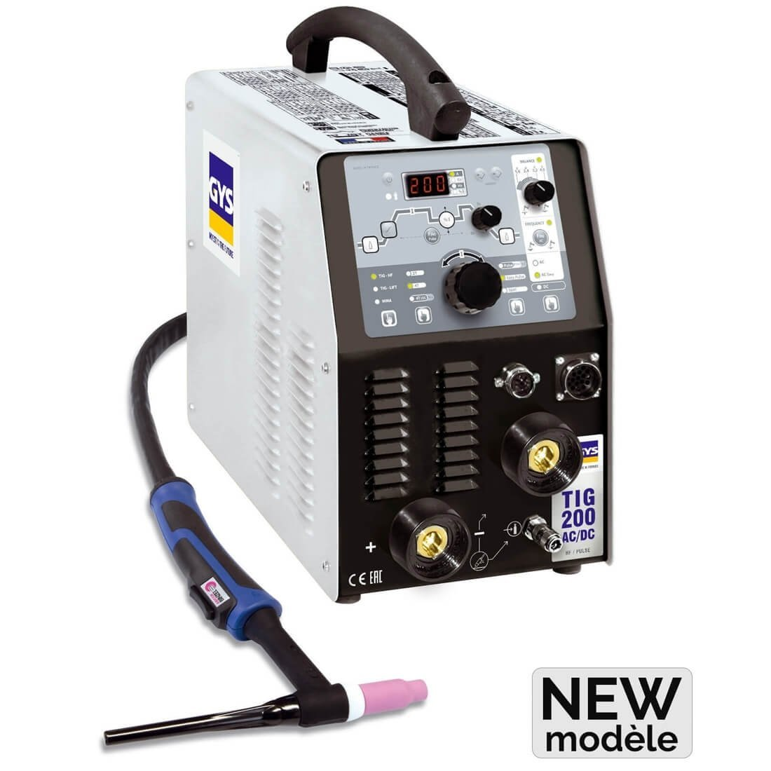 Poste de soudure TIG 200 AC/DC avec accessoires - GYS