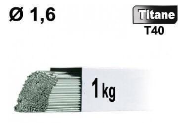 Baguettes tig titane d1,6 - 1kg