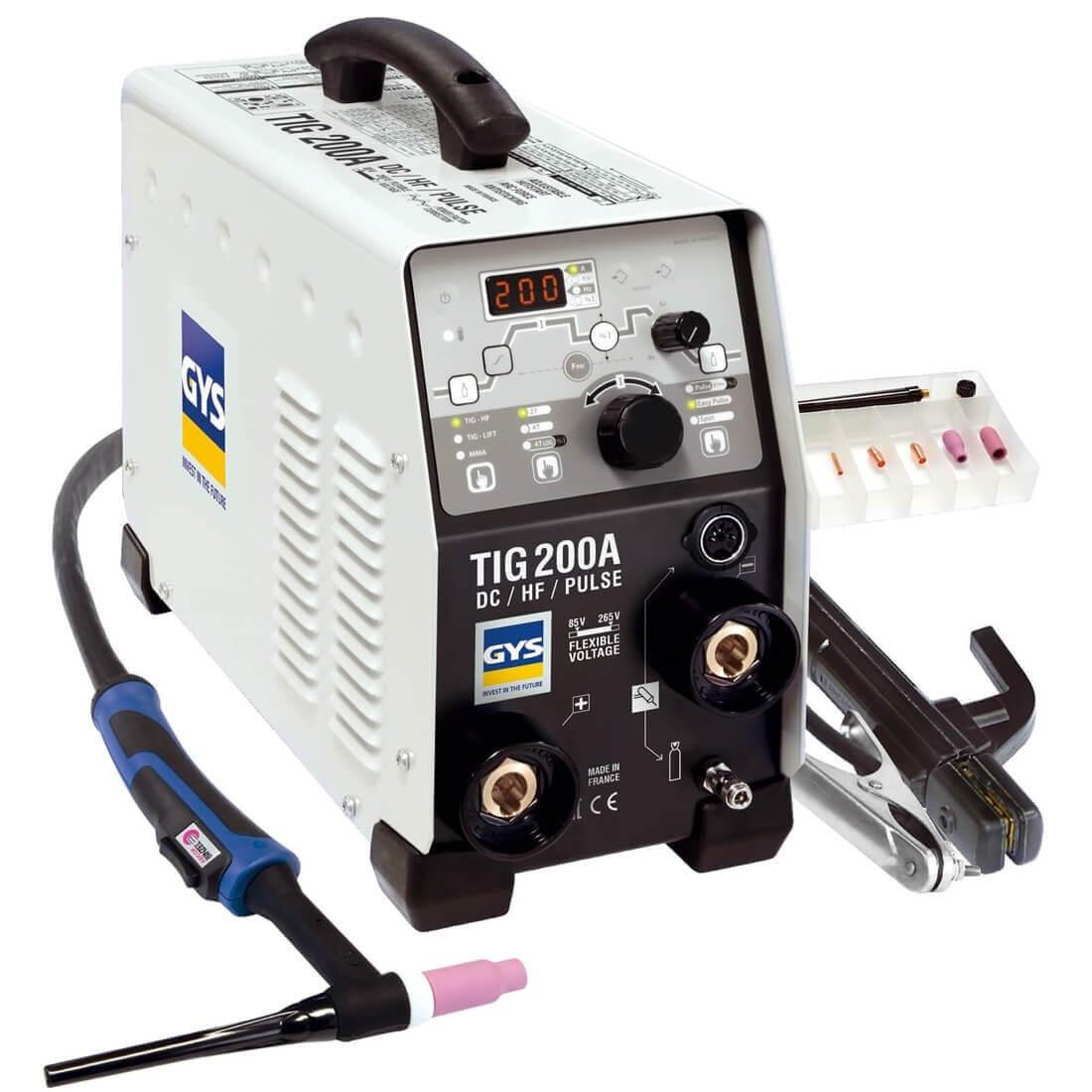 4c8a26a4b131e Poste de soudure TIG 200 HF DC avec accessoires - GYS - NEW MODELE