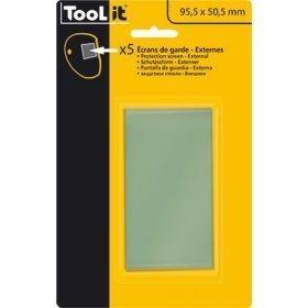 5 Écrans de garde -  Intérieur 95,5, x 50,5 mm  pour masque TECHNO 9-13