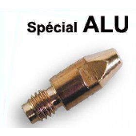 10 tubes contacts spécial ALU  Ø 1,2  M6 - Pour torche 250 / 350 A