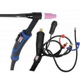 Torche TIG SR18  à double commande - 8M - connecteur 35/50 (AMPHENOL)