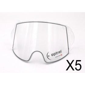 5 Écrans de garde -  Extérieur -  pour masque OPTREL PANORAMAXX