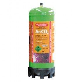 BOUTEILLE GAZ ARGON + CO2  jetable 2,2 Litres - Soudure acier inox -