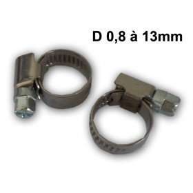 2 Colliers de serrage  -  D 8 à 16 MM
