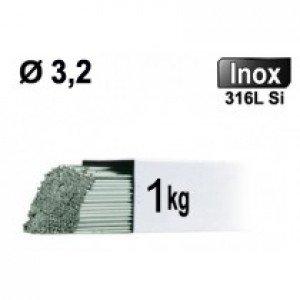 Baguettes métal d'apport TIG - INOX 316L - Ø 3,2 - Vrac 1kg