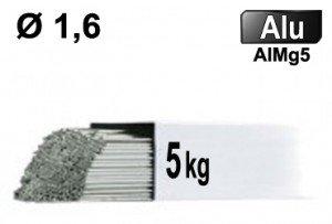 Baguettes tig ALU d1.6 - 5kg