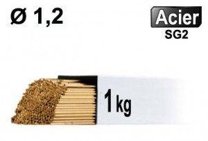 Baguettes métal d'apport TIG - ACIER - Ø 1,2 - Vrac 1kg