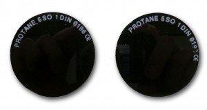 Verres ronds pour lunettes - D50 - Teinte n°13 - vendu par 10 pièces