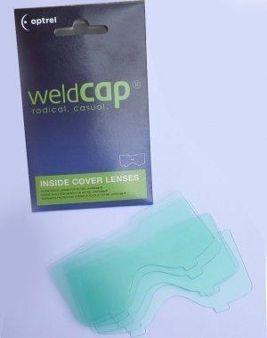 5 vitres de protections interieures pour masque  WELDCAP - OPTREL