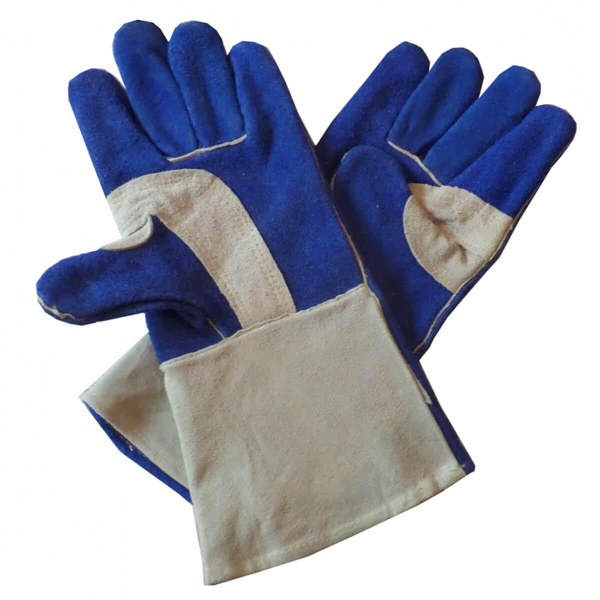 gants de soudeur 150 c bleu. Black Bedroom Furniture Sets. Home Design Ideas