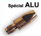 tubes contacts spécial alu  Ø 1,2  M8 - Pour torche 350 / 450 A