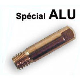 10 tubes contacts spécial ALU  Ø 0,8  M6 - Pour torche 150 A