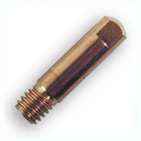 10 tubes contacts Ø 1,2  M6 - Pour torche 150 A - (Adaptable NO-GAZ 1,2)