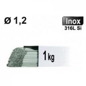 Baguettes tig inox 316l d1.2 - 1kg