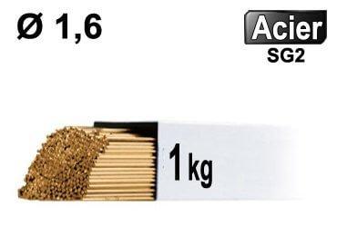 Baguettes tig ACIER d1.6 - 1kg