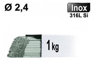 Baguettes tig inox 316l d2,4 - 1kg