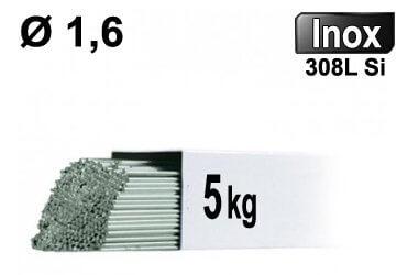 Baguettes tig inox 308l d1.6 - 5kg