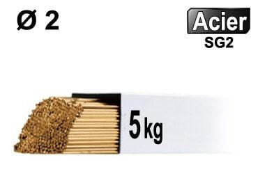 Baguettes tig acier d2 - 5kg