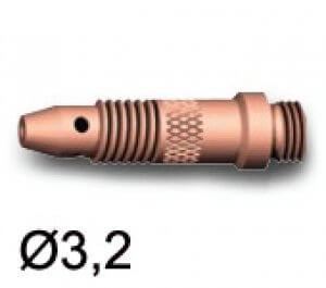 Support pince et buse Ø3.2 pour torches TIG SR17/SR17V/SR26