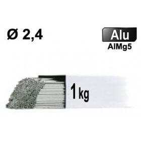 Baguettes métal d'apport TIG - ALU AlMg5 - Ø 2,4 - Vrac 1kg