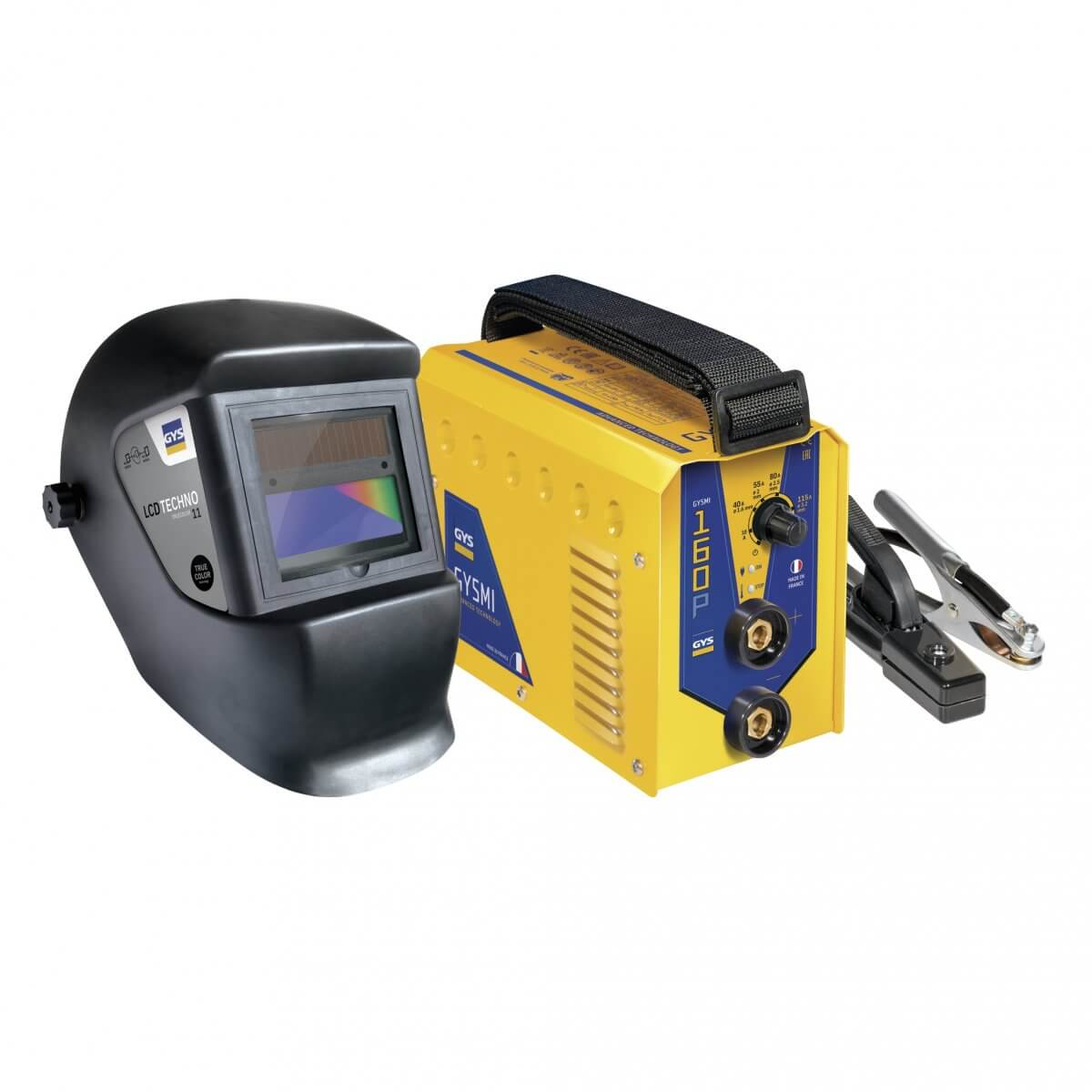 Poste à souder GYSMI 160P - Livré avec masque LCD TECHNO 11 - TRUE COLOR - GYS