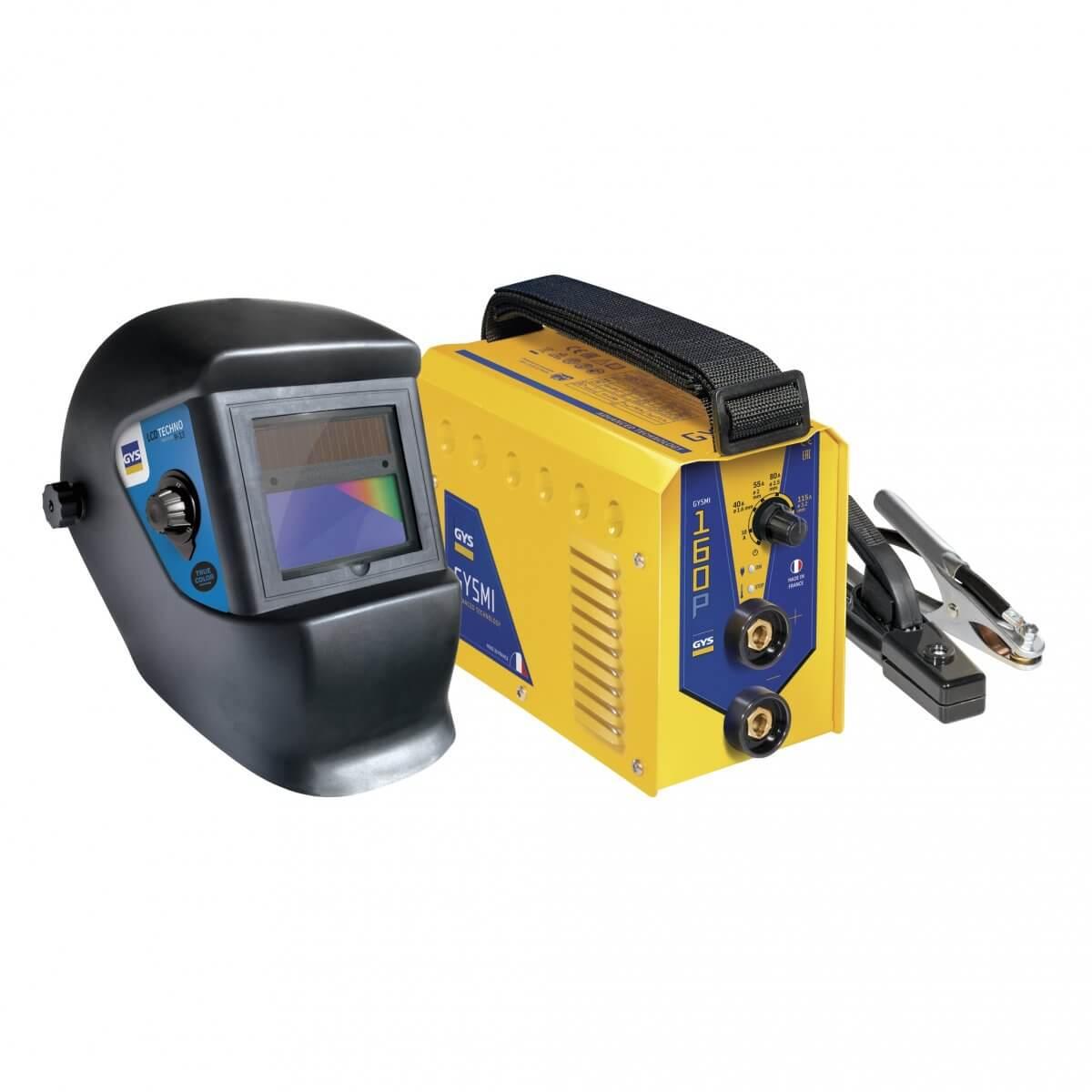Poste à souder GYSMI 160P - Livré avec masque réglable LCD TECHNO 9/13 - TRUE COLOR - GYS