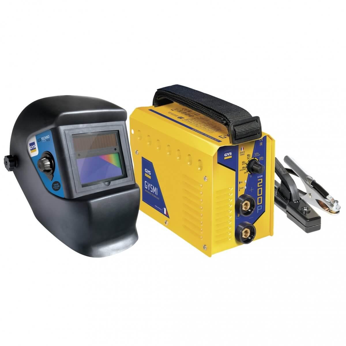 Poste à souder GYSMI 200P + masque LCD TECHNO 9/13 TRUE COLOR - GYS