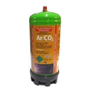 BOUTEILLE GAZ ARGON + CO2  jetable 1,8 Litres - Soudure acier inox